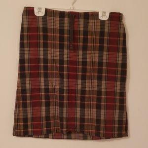 Plaid cotton skirt